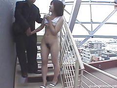 Cute japanese slut picked up for public sex