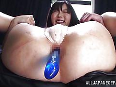big tits, censored, black hair, japanese babe, anal dildos, anal nippon, all japanese pass, miki ichiki