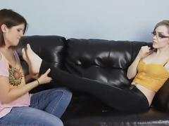 Lela foot worships tara's soft feet (girlfeetclips)