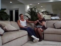 Mature maid fucks her boss