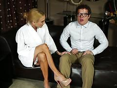 Virgin geek receives a nuru massage from sarah jessie