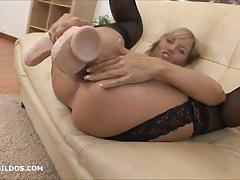 anal, blonde, milf, toy, masturbation, dildo, solo, brutal, gape, insertion, gaping