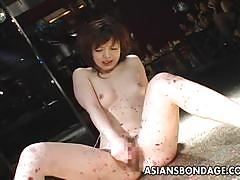 Kinky asian masturbating