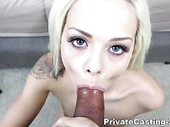 blowjob, riding, doggystyle, tattoo, shaved, pussy, european, rubbing, close up, natural tits