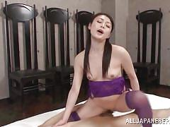 Kyoko rides cock and takes it up the ass