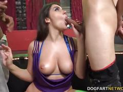 brunette, interracial, anal, gangbang, dogfartnetwork, natural-tits, ass-fuck, dp, big-cock, big-dick, blowjob, gagging, deep-throat, double-penetration, big-tits, busty, hardcore, italian