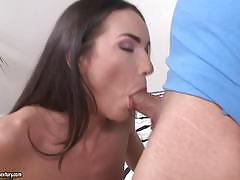 nataly gold, brunette, blowjob, riding, doggystyle, cumshot, cowgirl, sucking, licking pussy