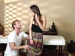 Jade nile caught sucking cock on her massage appointment