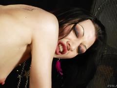 Skinny slut with huge anal talent