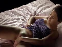 Cheating girl masturbating