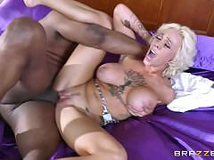 Harlow harrison getting hot interracial filling