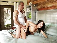 megan rain, brunette, blowjob, riding, doggystyle, cumshot, cowgirl, spooning, sucking, licking pussy