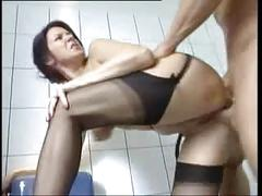 Nice german milf in stockings needs a rough fuck