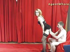 Milf agent whore sucking dick