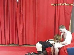 Milf agent whore sucking dick