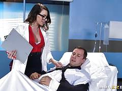 juelz ventura, blowjob, riding, doggystyle, cumshot, facial, glasses, reverse cowgirl, heels, doctor, hospital, 69, uniform, sucking