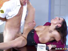 Curvy secretary lylith lavey gets a security shafting