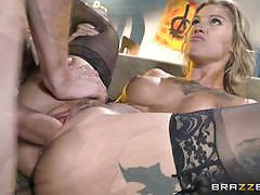 All cock and no play for sexy babe kleio valentien