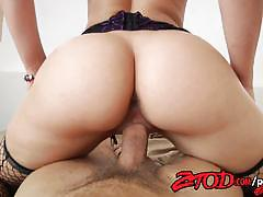 Blonde anikka albrite rides this hard dick