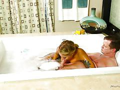 blonde, handjob, babe, blowjob, oiled, shower, rubbing, nuru massage, bathtub, nuru massage, nuru network, mena mason, eric masterson