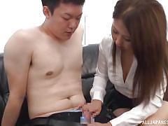 Sucking nipples in the boardroom