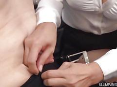 handjob, babe, japanese, office, brunette, censored, nipple sucking, office sex jp, all japanese pass