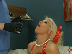 Blond does extreme atm annd eats ass, feet, and 8 cum loads