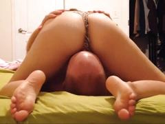 Husband/wife cum during 69ing, cock-sucking, pussy-licking and pounding pov