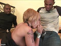 Melrose foxxx and her friend get blindfolded and fucked hard