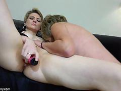 Mature amateur toys her partners moist slot