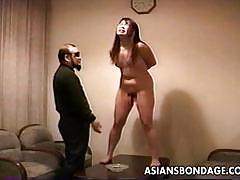 Japanese brunette spanked in bdsm