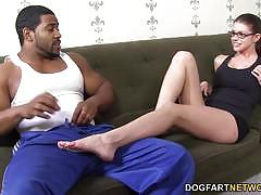 Foot fetish babe brooklyn chase loves teasing bbc