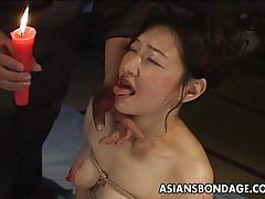 Dominated asian enjoys bdsm