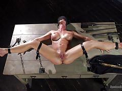 She gets blindly orgasmic when restrained
