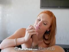 Pornpros - cute redhead alex tanner masturbates and fucks