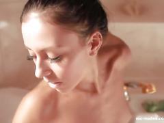 Cute brunette bailey masturbates in her shower - see her wet