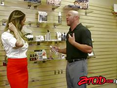 Ztod - hot female boss fucked by stockboy