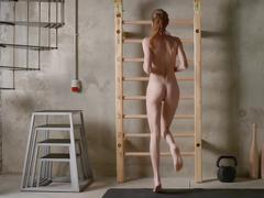 Skinny muscular girl
