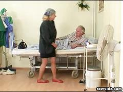 Nubile nurse gets a show
