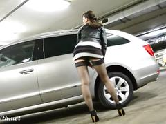 Jeny smith at car parking