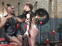 Master hines plays with his slave