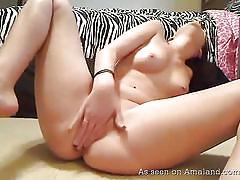 big ass, babe, amateur, dildo, masturbating, black hair, pink bikini, on the floor, hot gf videos, the gf network