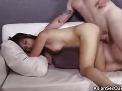 Asia zo gets cum on face!