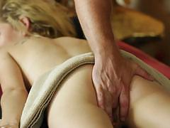 Masseuse thrashes the pussy of angel smalls
