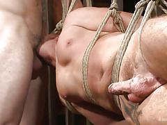 gay bdsm, gays, gay blowjob, gay domination, sex slave, tattoo, rope bondage, suspended, big dick, bound gods, kink men, wolf hudson, brendan patrick