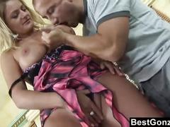 Busty milf fucking her son's best friend