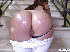 Bubble butt brunette julianna vega drilled doggystyle