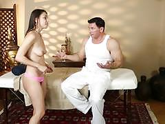 Pussy pounding deep alexis rodriguez at the massage centre