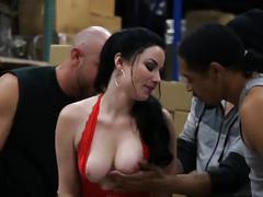 brunette, blowjob, cumshots, mom, natural-tits, tattoo, mother, 3some
