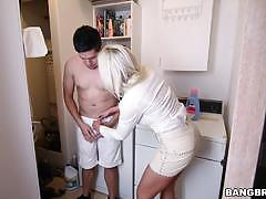 Smoking hot stepmom nina elle plays with her stepdaughter and her boyfriend